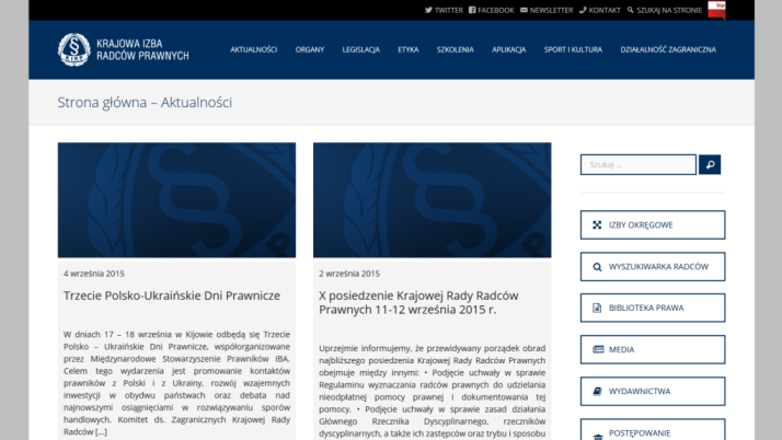 Nowa odsłona strony internetowej kirp.pl