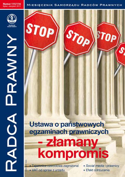 Radca Prawny nr 115-116 / lipiec-sierpień 2011