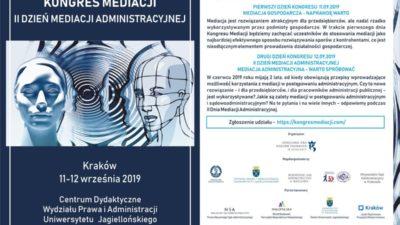 Kongres Mediacji 2019 II Dzień Mediacji Administracyjnej