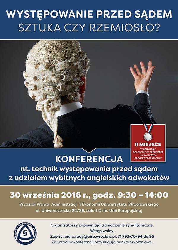 oirp konferencja - techniki występowania przed sądem