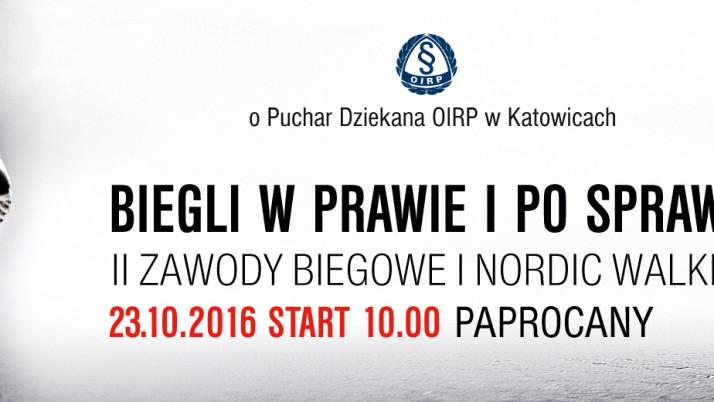 Zawody biegowe i nordic walking o puchar Dziekana Rady OIRP Katowice