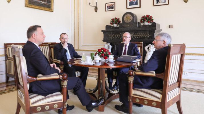 Oficjalne spotkanie Prezesa KRRP z Prezydentem RP