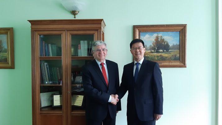 Spotkanie Prezesa KRRP z delegacją chińską