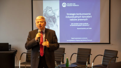 """Prezentacja raportu: """"Strategie konkurowania indywidualnych kancelarii radców prawnych"""""""