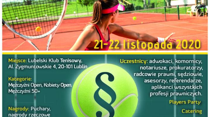 VII Otwarty Halowy Turniej Prawników wTenisie, Lublin 21-22 listopada 2020 r.