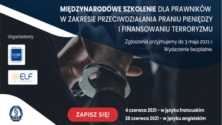 Międzynarodowe szkolenie dla prawników wzakresie przeciwdziałania praniu pieniędzy ifinansowaniu terroryzmu (AML/CTF)