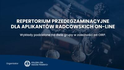 Repertorium przedegzaminacyjne dla aplikantów radcowskich