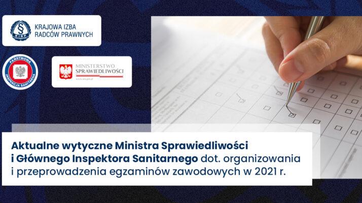 Minister Sprawiedliwości iGłówny Inspektor Sanitarny wydali wytyczne nategoroczny egzamin radcowski