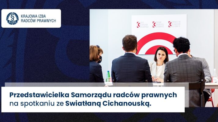 Przedstawicielka samorządu radców prawnych naspotkaniu zeSwiatłaną Cichanouską