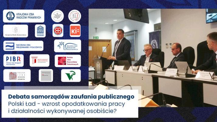 Polski Ład przedmiotem debaty przedstawicieli zawodów zaufania publicznego
