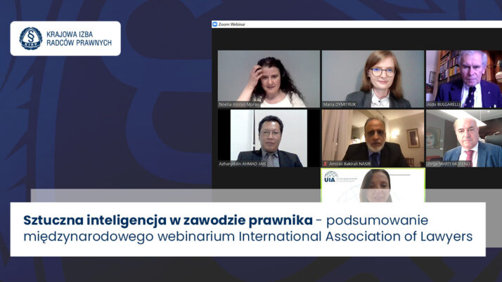 """Webinarium International Association of Lawyers """"The Future of the Legal Profession in the Age of AI""""- podsumowanie"""