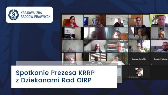 Spotkanie Prezydium KRRP zDziekanami Rad OIRP