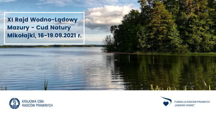 """XI Rajd Wodno-Lądowy """"Mazury Cud Natury"""""""