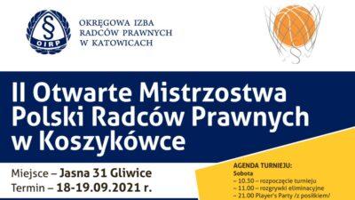 II Otwarte Mistrzostwa Polski Radców Prawnych wKoszykówce oPuchar Mistrza Polski