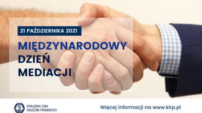 21 października – Międzynarodowy Dzień Mediacji